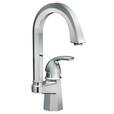 <strong>Moen</strong> Felicity One Handle Single Hole High Arc Single Mount Bar Faucet