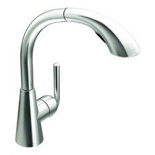 Ascent One Handle Single Hole High Arc Pullout Kitchen Faucet