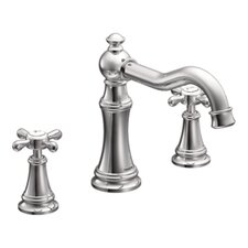 <strong>Moen</strong> Weymouth Two Handle High Arc Roman Tub Faucet