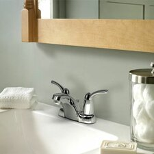 Adler Two Handle Centerset Low Arc Bathroom Faucet