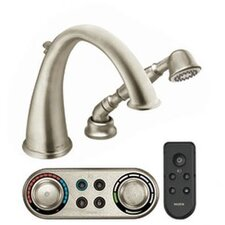 Kingsley High Arc Roman Tub Faucet with Hand Shower Iodigital Technology