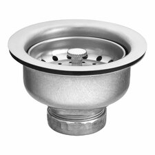 Drop-in Basket Strainer with Drain and Lock Nut