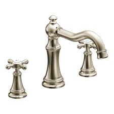 Weymouth Double Handle Deck Mount Roman Tub Faucet Trim