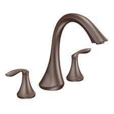 Eva Double Handle Deck Mount Roman Tub Faucet Trim Lever Handle