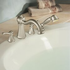 <strong>Moen</strong> Vestige Two Handle Roman Tub Faucet with Hand Shower