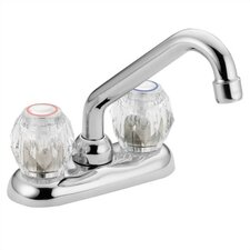 Chateau Deck Mounted Laundry Faucet with Double Knob Handle