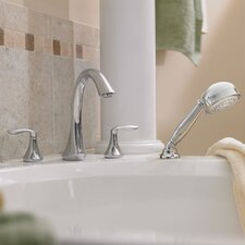 <strong>Moen</strong> Eva Two Handle Roman Tub Faucet with Hand Shower