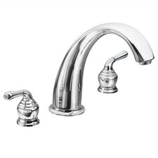 <strong>Moen</strong> Monticello Double Handle Deck Mount Roman Tub Faucet Lever Handle