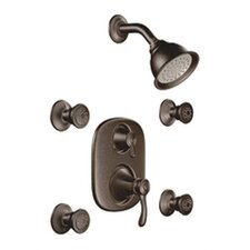 Vestige Vertical Spa Three Function Shower Faucet Trim Set