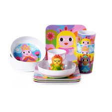 Princess Kids 16 Piece Dinnerware Set