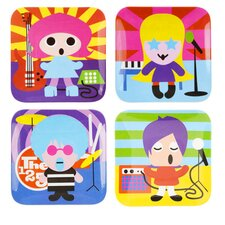 Rock Star Kids Plates (Set of 4)
