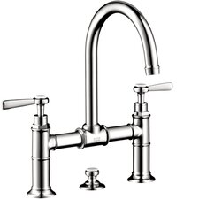 <strong>Hansgrohe</strong> Axor Montreux Widespread Model Bridge Faucet with Lever Handle