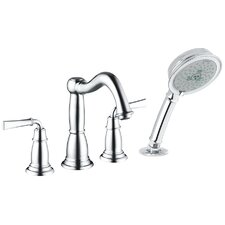 Tango C Double Handle Diverter Roman Tub Faucet and Hand Shower