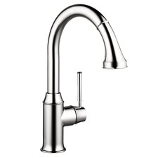 Talis C HG HighArc Single Handle Single Hole Kitchen Faucet with Pull Down 2 Spray