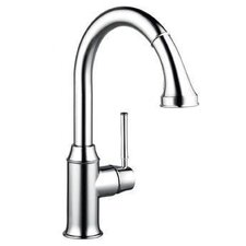 Talis C High Arc One Handle Single Hole Kitchen Faucet with Pull Down 2 Spray