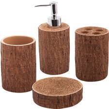 Woodland 4 Piece Bath Accessory Set