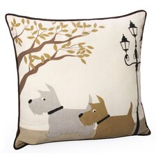 Scottie Dog Cotton Pillow