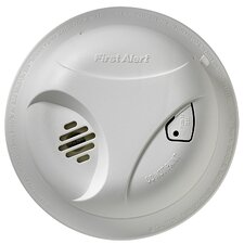 Battery Operated Smoke Alarm with Single Test Button (Set of 2)
