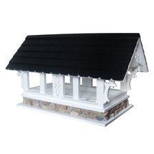 Covered Bridge Bird Feeder in Victorian White