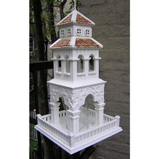 <strong>Home Bazaar</strong> Summer Palace Bird Feeder in Victorian White