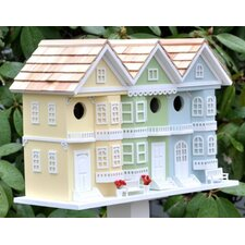 San Francisco Row House Birdhouse (Yellow/Green/Light Blue)