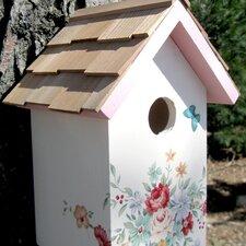 Botanical Print Cottage Standard Birdhouse