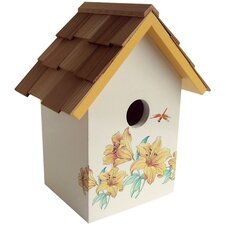 <strong>Home Bazaar</strong> Botanical Print Cottage Standard Birdhouse