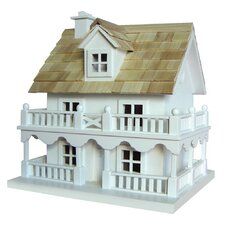 <strong>Home Bazaar</strong> Classic Series Novelty Cottage Birdhouse with Bracket