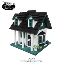 Cottage Charmer Series Green Gables Decorative Bird Feeder