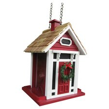 Holiday Offerings Christmas Cottage Decorative Hopper Bird Feeder