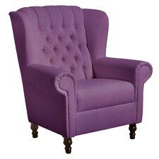 """Ohrenbackensessel """"Valerie"""" in Violett"""