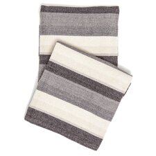 Montego Stripe Chenille Cotton Throw