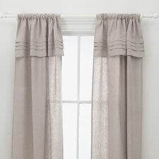 Pleated Linen Curtain Single Panel