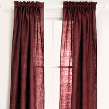 Chambray Linen Curtain Single Panel