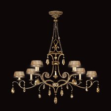 Golden Aura 8 Light Chandelier