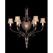<strong>Fine Art Lamps</strong> Villa 1919 Six Light Chandelier in Rich Umber