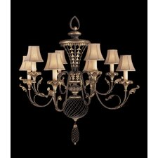 <strong>Fine Art Lamps</strong> Villa 1919 Eight Light Chandelier in Umber