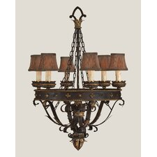 <strong>Fine Art Lamps</strong> Castile Six Light Chandelier in Iron