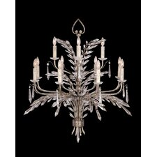 Winter Palace Twelve Light Chandelier in Antique Silver