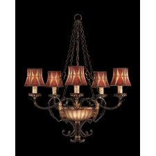 <strong>Fine Art Lamps</strong> Brighton Pavillion Five Light Chandelier in Bronzed Sienna