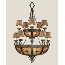 <strong>Fine Art Lamps</strong> Castile Ten Light Chandelier in Antique Gold