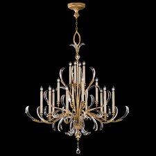 Beveled Arcs 16 Light Chandelier