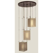 Quadralli 3 Light Drop Pendant