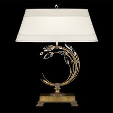 <strong>Fine Art Lamps</strong> Crystal Laurel Gold 1 Light Table Lamp