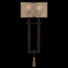 <strong>Fine Art Lamps</strong> Singapore Moderne Silver Two Light Wall Sconce