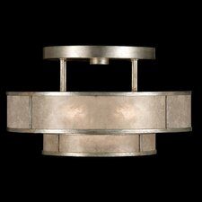 <strong>Fine Art Lamps</strong> Singapore Moderne Silver 3 Light Semi Flush Mount