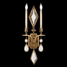 Encased Gems 2 Light Wall Sconce