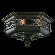 <strong>Fine Art Lamps</strong> Warwickshire 3 Light Outdoor Flush Mount