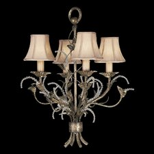 A Midsummer Nights Dream Four Light Chandelier in Cool Moonlit Patina