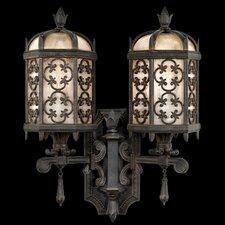 <strong>Fine Art Lamps</strong> Costa Del Sol 2 Light Outdoor Wall Lantern